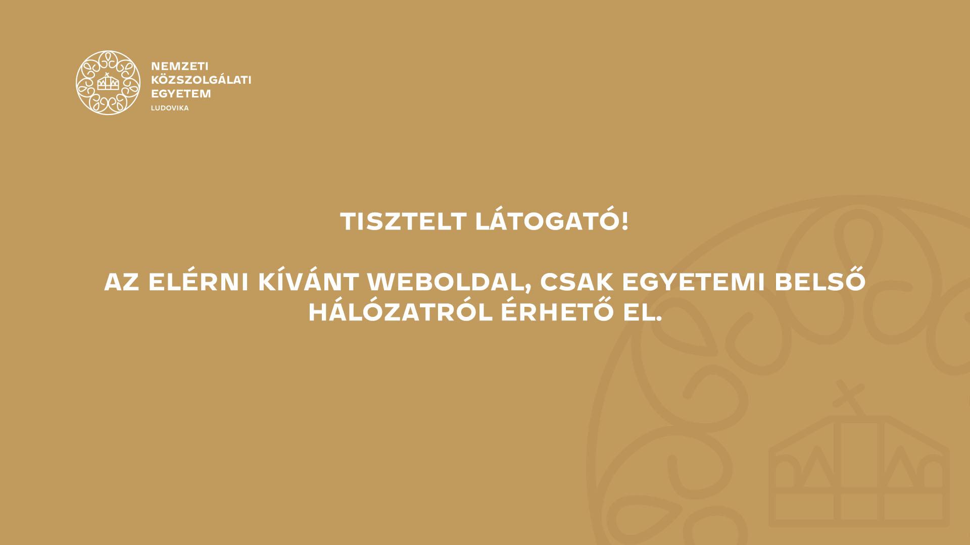 Prof. Dr. Kóródi Gyula o.tű. alezredes PhD.